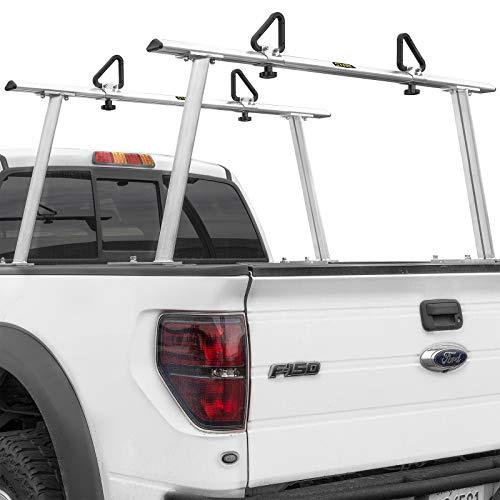 9TRADING Adjustable Aluminum Pickup Truck Ladder Racks 1000lbs Universal Lumber Utility