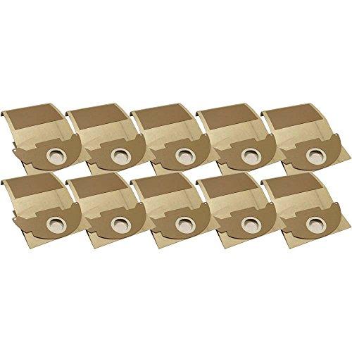 10 Industrie- Baustellen- Gewerbe- Heavy Papier Staubsaugerbeutel passend für Kärcher 2501, TE - 2501 TE, 6.904-143