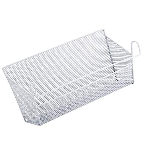 SZHAIYU - Soporte para mesita de noche para recámara, almacenamiento en esquina, estante para computadora, cesta para el hogar o la oficina (blanco)