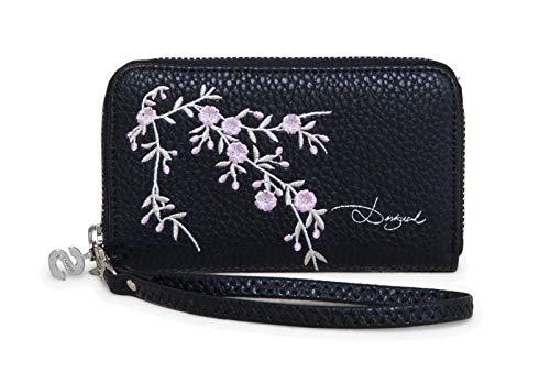 Desigual Mone Mini Zip Blossom Negro
