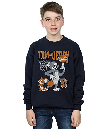 Absolute Cult Tom and Jerry Jungen Spinning Basketball Sweatshirt Navy Blau 5-6 Years