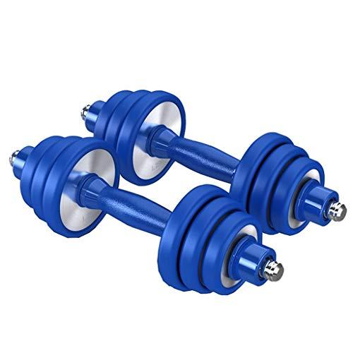 Mancuernas Acero Inoxidable Equipo De Gimnasia Masculino Ajustable Juego Familia Acero Puro Los Principiantes También Pueden Usar (Color : Blue, Size : 7.5KG*2)
