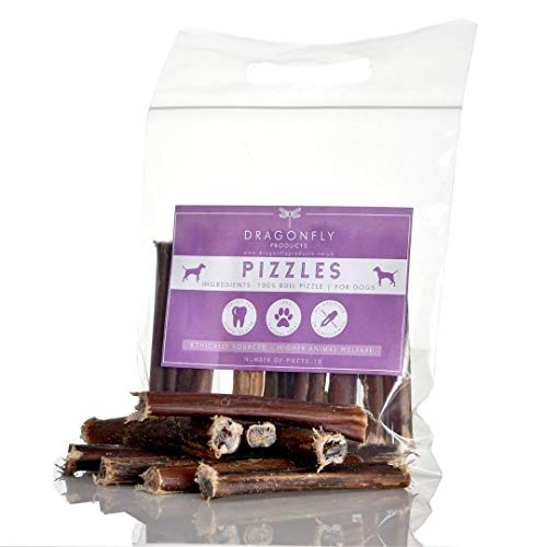 Dragonfly Products 10 pieces Bulls PIZZLES Pizzle Bully Stick for Dogs EU...