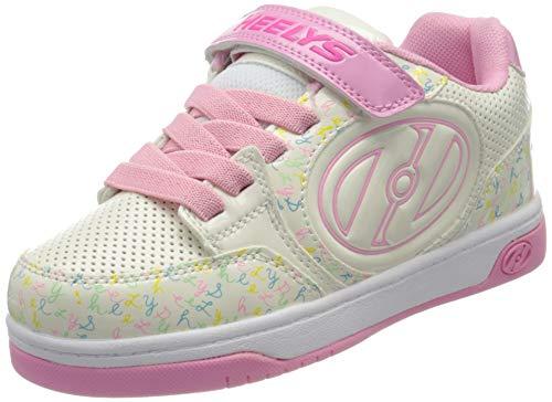 Heelys Mädchen Plus X2 (he100721) Leichtathletik-Schuh, White/Light Pink/Multi Logo, 30 EU