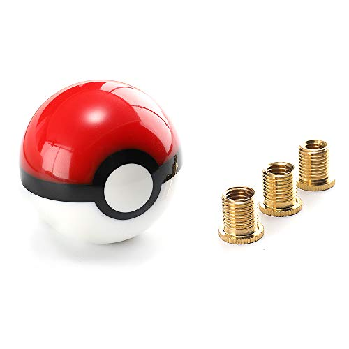 Top10 Racing Pikachu Pokeball Poke Ball Manual Gear Shift Shifter knob Universal JDM 4 5 6 Speed Round