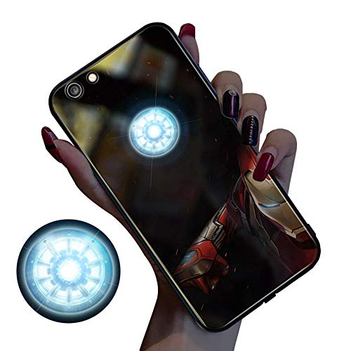ABcase Luce Anime Manga Creativa LED Fino chiamate in entrata Flash Copertura AntiGraffio Fondello Trasparente per iPhone 7/8/7 / 8plus / X/XS/XR/XS Max,B,iPhone XR