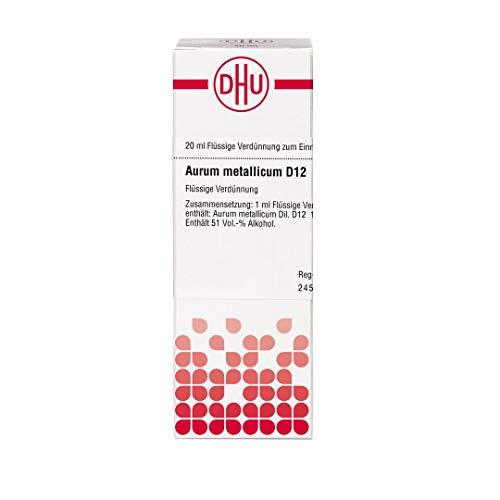 DHU Aurum metallicum D12 Dilution, 20 ml Lösung