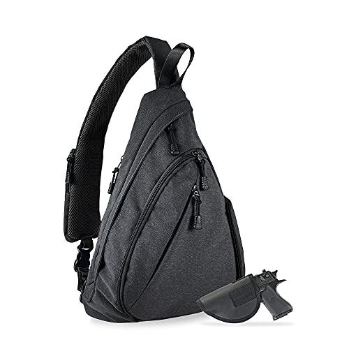 Jessie & James Peyton Crossbody Sling Backpack Concealed Carry Purse For Women Men Outdoor Chest Bag Shoulder Backpack Black