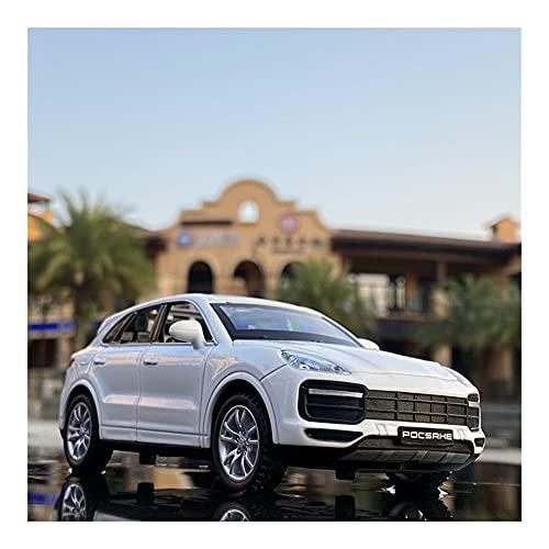 GEBAN Vehículo a Escala 1:32 para Porsche para Cayenne 2021, Modelo de Coche de aleación, vehículos de Juguete, colección de Modelos de Coche de Metal, Juguetes para niños, Regalos (Color : White)