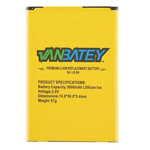 Vanbatey Batería para LG G4 3000 mAh Batería interna de iones de litio Polímero Original Compatibilidad con H810 H811 H812 H815 VS986 LS991 US991 (LG G4)