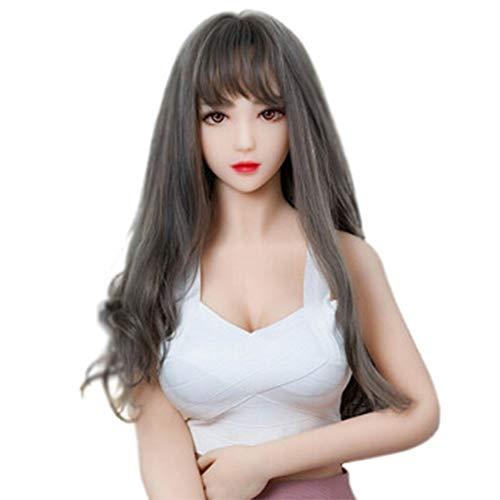 VAWA 3D Adult Semi-Solid Silikon intelligent nahtlos Real Dolls Spielzeug für Männer-Solid Silikon weiche Brust + Sprachgespräch + Heizschock Künstliches Silikon Produkt, 7 Kanäle-6cross