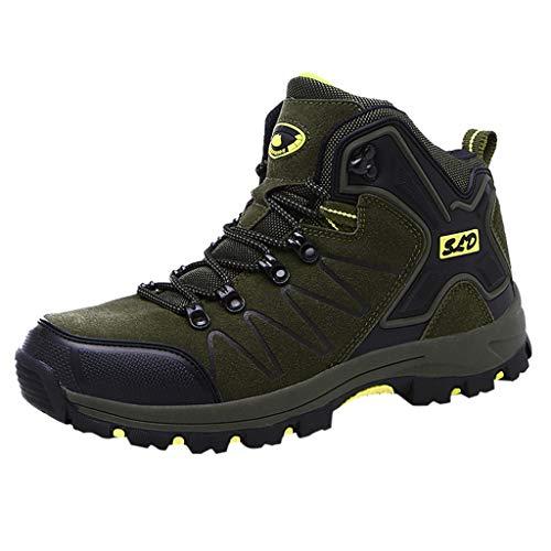 HDUFGJ Herren Damen Trekking-& Wanderschuhe Wanderschuhe rutschfeste Outdoor-Schuhe Sneaker Leichtgewicht Laufschuhe Bequem Mode Freizeitschuhe Faule Schuhe Turnschuhe Fitnessschuhe 39(Grün 1)