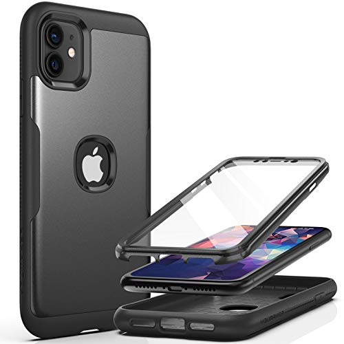 YOUMAKER Metallic Designed for iPhone 11 Case, Full Body Rugged with Built-in Screen Protector Heavy...