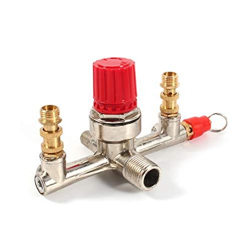 Regulador de presión del compresor de aire de doble salida, válvula del interruptor de repuesto del regulador del compresor de aire, para compresor de aire de pistón