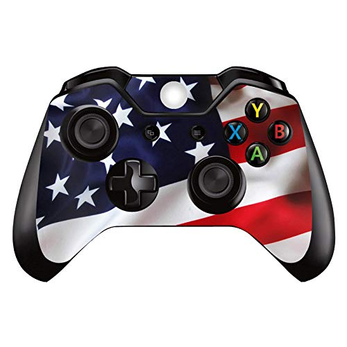 SKINOWN Xbox One Controller Skin Sticker Vinly Decal Cover for Microsoft Xbox One DualShock Wireless Controller (America Flag A)