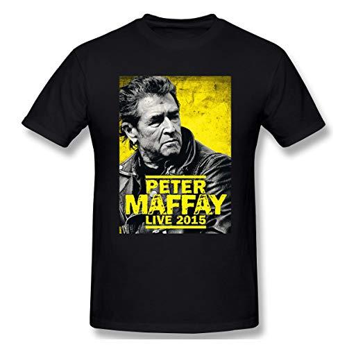 Liteschi Herren Peter Maffay 2015 Freizeit T-Shirts Black XXL Mit Herren-Kurzarm