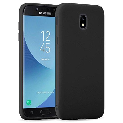 JAMMYLIZARD Cover per Samsung Galaxy J5 2017 | Custodia [Jelly] in Silicone Morbido Ultra Slim Skin Case, Nero
