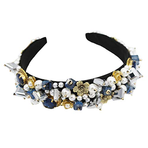 S-TROUBLE Barock Palace Handgemachte Geometrische Faux Kristall Stirnband Frauen Braut Tanzparty Crown Haarband Vollen Schmuck Kopfschmuck