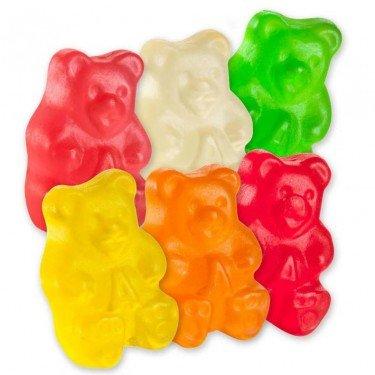 Sugar Free Gummy Bears Assorted 6 Flavor Gummi Cubs Candy (1 LB)