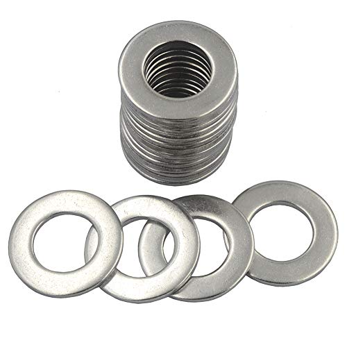 DGOL 18 pcs 3/4 inch 304 Stainless Steel SAE Flat Washer, 3/4 inch x 1-15/32 inch Washers Assortment Kit
