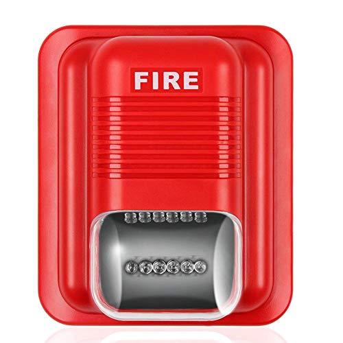 Bloomma Ton- und Lichtalarm Feueralarm Brandbekämpfung Akustooptischer Alarm Sirene Sicherheitssystem Sensoren