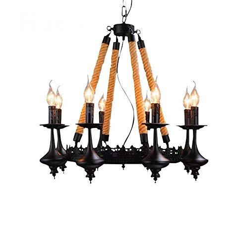 RUIXINBC Innen E14 LED Deckenleuch, 8-Licht-Kerze Dunkle Nacht Beleuchtung Pendelleuchte, Zimmerbrunnen Badspiegel Kronleuchter