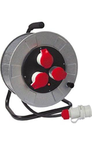 FME alargador eléctrica enrollacables 3tomas 3P + T 16A cable mt. 3014348