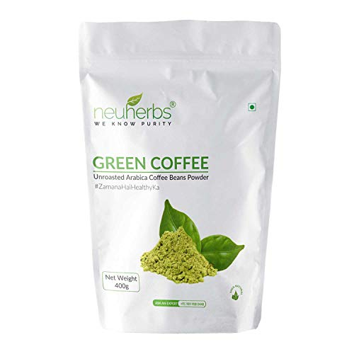 Neuherbs Unroasted Green Coffee Beans Powder For Weight Loss: 400 G