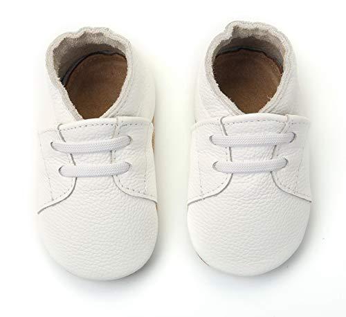 COSMOZ Scarpine in Pelle Prima Infanzia | Baby Scarpe in Pelle | Scarpe Primi Passi | Scarpette Neonato | Realizzate in Pelle Conciata al Vegetale