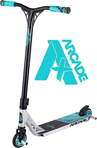 Arcade Pro Scooters Plus Stunt Scooter for Kids 10 Years and Up - Perfect for Intermediate Boys and Girls - Best Trick Scooter for BMX Freestyle Tricks (ARCADE Plus - Ultra Lava)