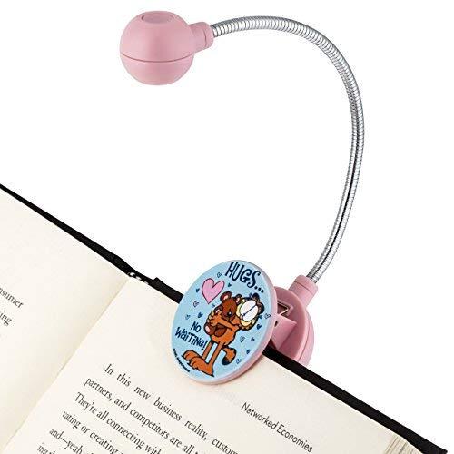 Luz de LED para livro da Garfield- Luz de LED - Luz de leitura para livro - Não comum, Pink