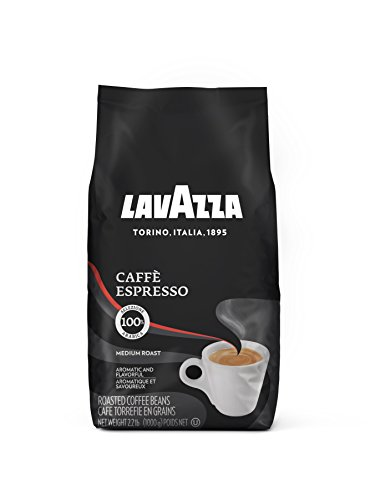 Lavazza Caffe Espresso Whole Bean Coffee Blend, Medium Roast, 2.2-Pound Bag