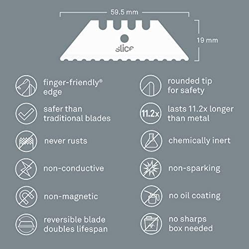 Slice 10523 Utility Blade Serrated Edge Never Rusts Lasts 11x Longer Than Metal Finger Friendly product image