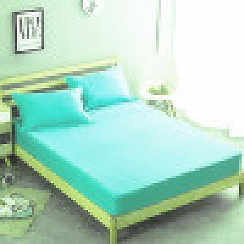 YDyun Protector de colchón/Cubre colchón Acolchado de Fibra antiácaros, Transpirable, Funda Protectora de Hotel de Color Puro