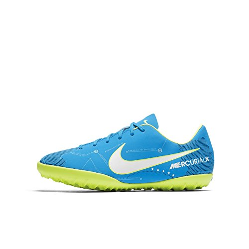 NIKE JR Mercurialx VCTRY Vi NJR TF - Zapatillas de fútbol de Neymar Jr, Unisex Infantil, Azul - (Blue Orbit/White-Blue Orbit-Armory Navy)