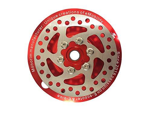 SPEDWHEL Piezas actualizadas de modificación de la cubierta del motor trasero compatibles con xiaomi m365 Pro scooter eléctrico de 350w o 500w 120mm (rojo)