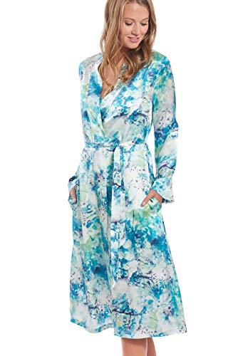 Jadee dames zijden kamerjas lang gemaakt van 100% zijde
