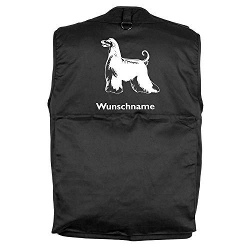 Tierisch-tolle Geschenke Afghane - Hundesportweste mit Rückentasche und Namen (L)
