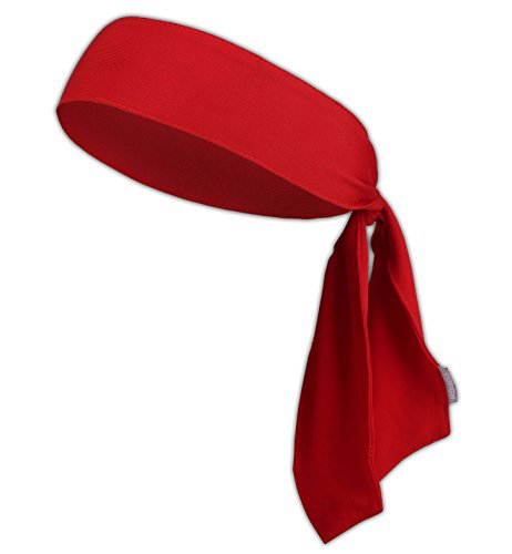 Tie Headband - Sports Head Ties for Men, Women, Kids - Ninja, Karate, Tennis, Pirate Head Band & Bandana - Athletic Sweatband/Hair Band for Basketball, Softball, Running, Workout - Sweat Wicking