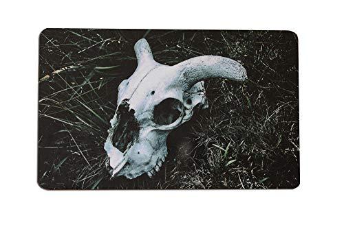 Frühstücksbrettchen Schaf Schädel Gothic Fotografie Brettchen aus Melamin, spülmaschinenfest, Schneidebrett 14 x 23 cm