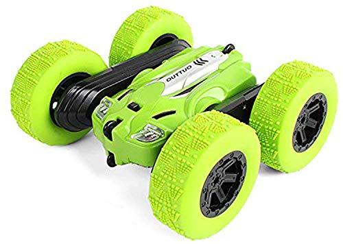 LUOWAN Ferngesteuertes Auto - 360°Spins RC Stunt Auto Rennauto 2.4Ghz Radio Ferngesteuerter Buggy Auto, High Speed Spielzeugauto, 4WD Auto Spielzeug Rennfahrzeug für Kinder Jungen Mädchen (Green)