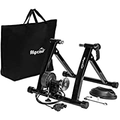 MAKE THE SWITCH TO STATIONARY! – Mag Bike Stand Converts Any Mountain or Road Bike Into a Stable, Smooth-Riding Indoor Stationary Bicycle for All-Season Training, Conditioning, Fitness & Exercise – A Must-Have for Dedicated Cyclists! SUPER QUIET MAGN...