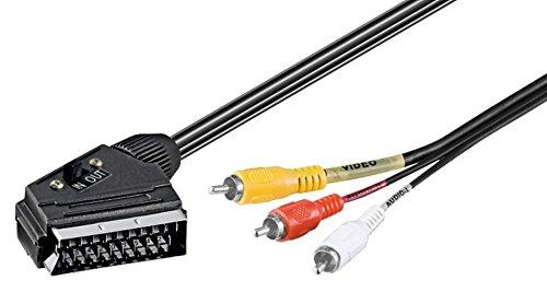 goobay 50364 - Cable Adaptador de euroconector a vídeo Compuesto (21 Pines)...