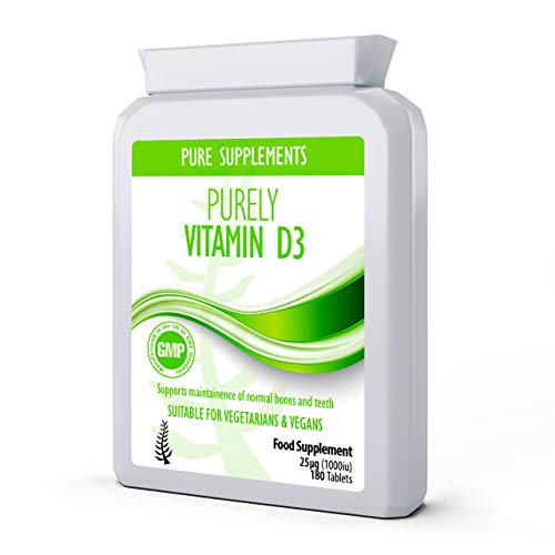 Vitamin D 180 Tablets D3 Cholecalciferol UK Made | High Dose Premium Grade Vegan Supplement