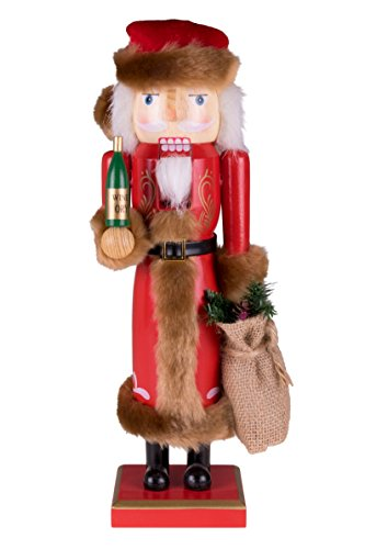 Clever Creations Traditional Wooden Collectible Vintage Santa Claus Nutcracker, Festive Christmas Décor, 15 Inch Tall Perfect for Shelves and Tables, 100% Wood