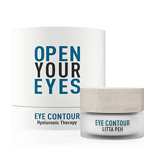 Litta Peh - Eye Contour - Crema Hidratante para el Contorno de Ojos - Tratamiento Orgánico con Ácido Hialurónico - 15ml