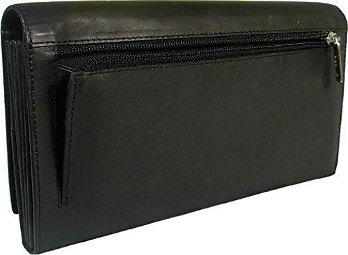 New large Visconti soft black leather passport travel wallet organiser bag style 1179