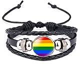 SHINsuke Pride Love Rainbow Pulsera Gay y Lesbiana LGBT Bandera Solapa DIY Accesorios