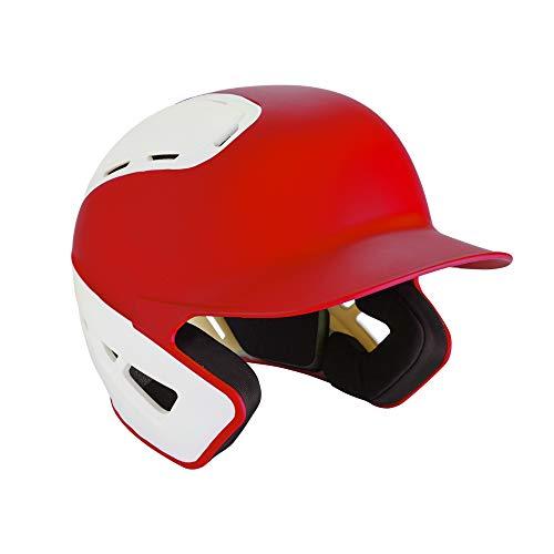 Mizuno B6 Youth Baseball Batting Helm, Mizuno 380387.1000.01.0000 B19 - BT Helm - YTH Baseball Batting Helm, 380387.1000.01.0000, rot / weiß