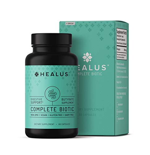 Healus Complete Biotic Butyrate Supplement, Tributyrin Based Butyric Acid Capsules. Postbiotic Support for Gut Health. Advanced Absorption Technology